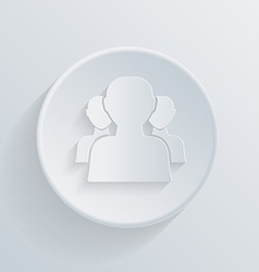 Circle icon silhouette of a men social media vector