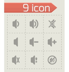 Speaker icon set vector