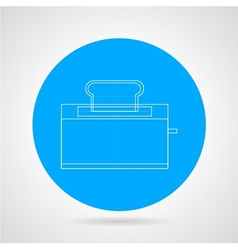 Outline icon for toaster vector