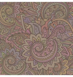 Pattern of the indian floral ornament with vector