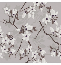 Cherry branch pattern vector