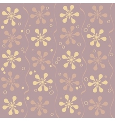 Seamless beautiful flower pattern vector