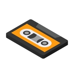 Cassette isometric 3d icon vector