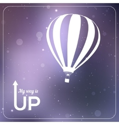 My way is up hot air balloon vector