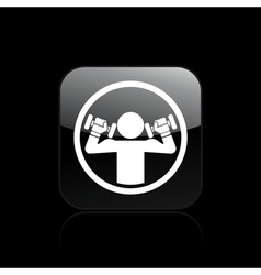 gym single vector image