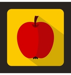 Red apple icon in flat style vector