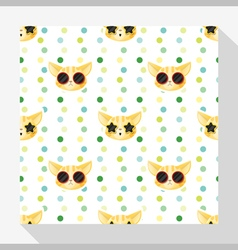 Animal seamless pattern collection with cat 5 vector image vector image