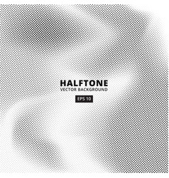 background wave point dot halftones vector image vector image