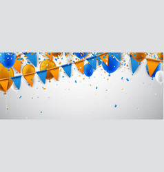 Banner with flags and balloons vector