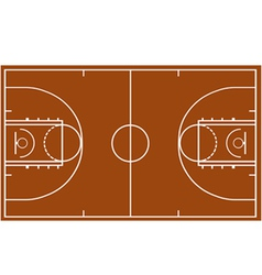 Basketball field vector image vector image
