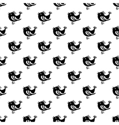 Bird pattern seamless vector