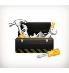 Black toolbox vector