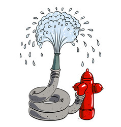 Cartoon image of hose pipe vector