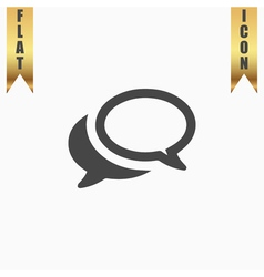 Chat or Dialogue Icon vector image vector image