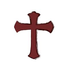 Christianity cross symbol vector