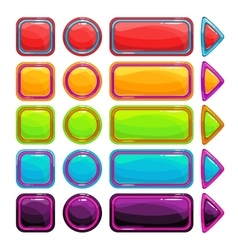 Colorful bright buttons set vector