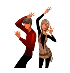 couple dancing together vector image vector image