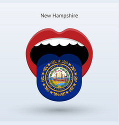 Electoral vote of new hampshire abstract mouth vector