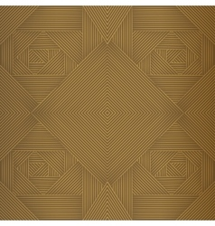 Geometric brown seamless pattern vector image vector image