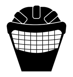 Goalkeeper mask icon simple style vector