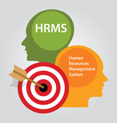 Hrms human resources management system vector