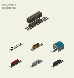 isometric wagon set of underground delivery tank vector image vector image