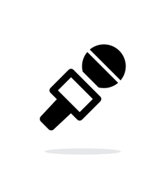 Journalist microphone icon on white background vector