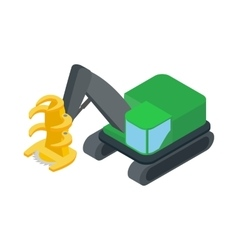Log loader icon isometric 3d style vector