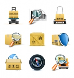 logistic icons | bella series vector image vector image