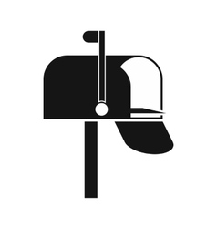 Mail box icon simple style vector