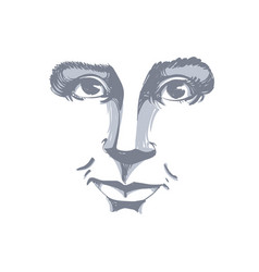 monochrome art drawing portrait of gorgeous vector image vector image