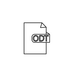 odt format document icon vector image vector image