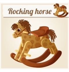 Rocking horse Cartoon vector image