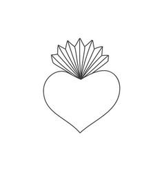 Sacred heart doodle vector