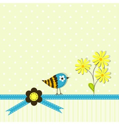 Scrapbook book greeting card vector image