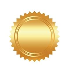 Seal stamp gold luxury elegant con vector