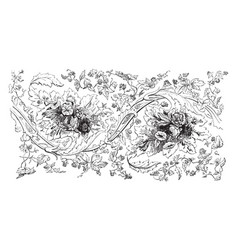 Shawl are garments and fabrics vintage engraving vector