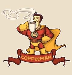 Superhero coffee-man vector image