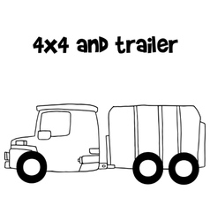 Trailer vector