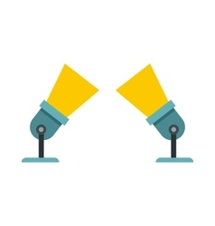 Two spotlights icon in flat style vector