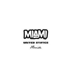 United states miami florida city graffitti font vector