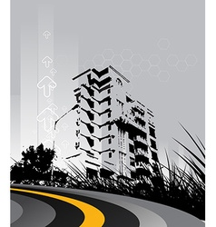 Urban grunge city vector image vector image