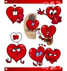 valentine cartoon love set vector image vector image