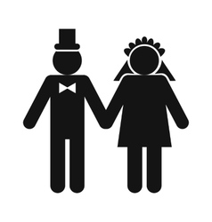 Wedding married couple icon vector image vector image