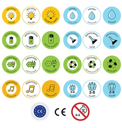 Set of toy package icons and design elements vector image