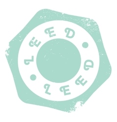 Leed stamp rubber grunge vector