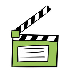 Movie clapper icon cartoon vector