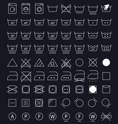 Laundry care symbols vector