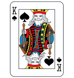 King of spades french version vector