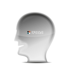 3d white head person concept vector image